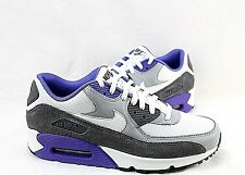 NIKE AIR MAX 90 ESSENTIAL 537384-122 WHITE-SILVER-DARK-GREY MENS SIZE: 9.5 ONLY