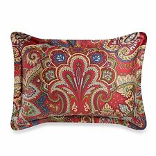 Cozy Shop Regent Paisley 1 Standard Pillow Sham Red Purples Green Aqua
