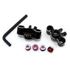 Hot Racing RC VXS2101 Black Aluminum Knuckles 1/16 (Red Screw)