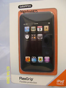 GRIFFIN FLEXGRIP SILICONE CASE FOR IPOD TOUCH 1Gen static peel screen protector