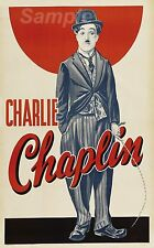 VINTAGE Charlie Chaplin A3 POSTER STAMPA