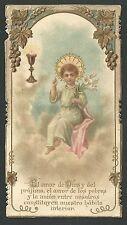 Estampa antigua de Primera Comunion andachtsbild santino holy card santini