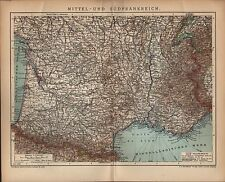 Carte MAP 1904: moyen et le sud de la France échelle: 1: 2.780 000