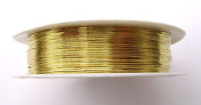 Beading Wire Gold Silver ptd Copper 28 ga - 0.3mm, 26 m - 85.3 ft, 1 or 10 Spool