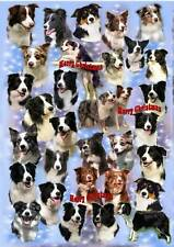 Border Collie Christmas Wrapping Paper 2 By Starprint