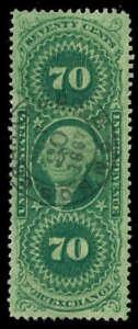 momen: US Stamps #R65c Revenue Handstamp Used SUPERB