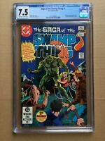 CGC Comic graded 7.5 DC saga of swamp thing  #1 Key film