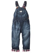 NEW OshKosh BGosh Girls Vestbak Denim Overalls Pink...
