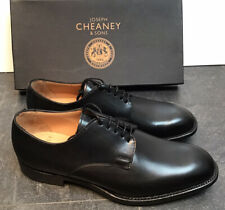 Men's - Cheaney - Albany 'R' - Derby Black Calf Leather Shoes - UK 8