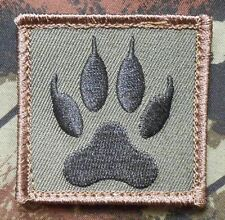 WOLF TRACKER PAW USA ARMY MILITARY MORALE TACTICAL BADGE FOREST HOOK PATCH