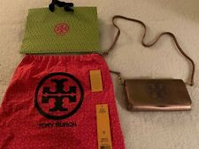 Tory Burch Perforated Logo Small Clutch Metallic  Excellent Condition!