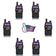 6x Baofeng UV-5R+ Plus > V2+ 136-174/400-520MHz Dual Band FM Two way Radio