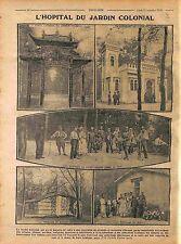Hôpital du Jardin colonial Pavillon de Guelma du Maroc Porte Chinoise 1916 WWI