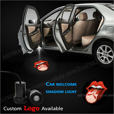2x Car Door LED  Projector THE ROLLING STONES LIPS Punisher Ghost Shadow Light