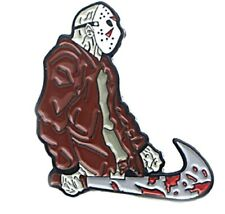 Friday The 13th Jason with Bloody Machete 1 Inch Tall Metal Enamel Pin