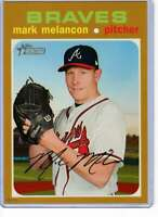 Mark Melancon 2020 Topps Heritage 5x7 Gold #380 /10 Braves