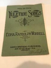 Vintage 1914 Yuletide Songs by Edna Randolph Worrell Christmas Carols