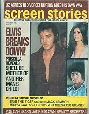 Elvis Presley Priscilla Presley cover SCREEN STORIES magazine 1973 tuesday weld