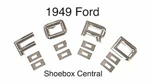 1949 49 Ford Car Hood Letters F O R D  New