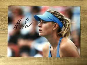 Maria Sharapova Tennis Signed Photo