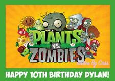 PLANTS VS ZOMBIES A4 EDIBLE IMAGE CAKE TOPPER BIRTHDAY PARTY KIDS ADULTS