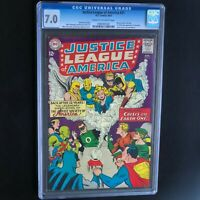 JUSTICE LEAGUE of AMERICA #21 (DC 1963) 💥 CGC 7.0 💥 RE-INTRO JSA in JLA! KEY