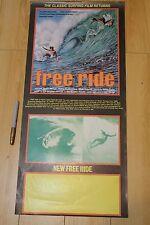 Free Ride - Shaun Tomson Mark Richards 12x27in. O.G. 1977 Surfing Film Poster