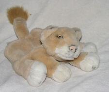 """Manhattan Toy 2000 Baby Lion King Cub Hand Puppet Simba Nala 9"""" Stuffed Plush"""