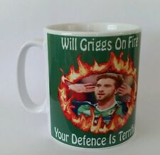 Will Grigg's on fire mug, northern Ireland France 2016 Euros.
