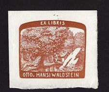 EXLIBRIS, 667a, Künstler unbekannt / Artist unknown - Baum mit Mühlrad