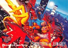 SABRETOOTH VS. JEAN GREY / X-Men Fleer Ultra 1995 BASE Trading Card #138