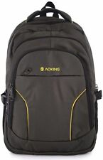 Aoking Nylon Black/yellow school travel backpack bag fits 15.5 inch laptop