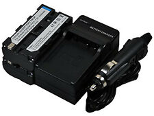 New 2 piece NP-F570 F550 Battery and Charger For CCD-RV200 DCR-TRU47E MPK-DVF4