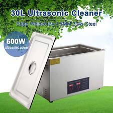 30L Liter Digital Ultrasonic Cleaner Stainless Steel for Jeweler w/ Heater Timer