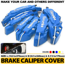 6x Blue 3D Brake Caliper Cover Style Disc Universal Car Front Rear Kit L+M+S C3