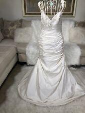 Paloma Blanca Sample Wedding Gown 100%silk SZ 8