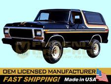 1978 1979 Ford Bronco XLT Free Wheeling Decals Stripes Kit
