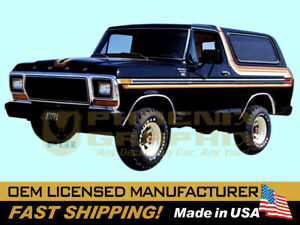 compatible with,1978 1979 Ford Bronco XLT Truck Free Wheeling Decals Stripes Kit
