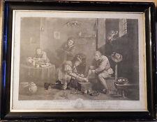 RARO ORIGINALE 1747 stampa Thomas grandi dopo David Teniers il paese CHIRURGO