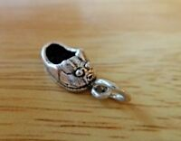 Sterling Silver 3D 16x7mm Small Baby Bunny Rabbit Shoe Charm