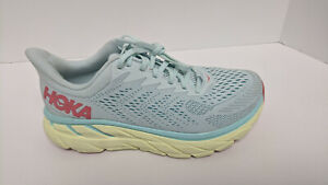 Hoka One One Clifton 7 Running Shoes, Morning Mist, Women's 7 Wide