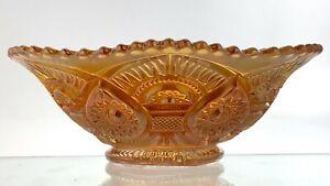 Carnival Glass Marigold Imperial Bowl Dish Hobstar Twins Pattern U627