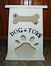 New Handmade  DOG TOY BOX Storage Holder Paw Print Dog Bone Personalize #2