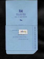 TEAL AIR NEW ZEALAND 1958 COMMENT CARD NEVER USED/NO WRITING