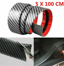 5CM*1M Carbon Fiber Rubber Edge Guard Strip Car Door Sill Window Protector Cover