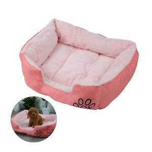 Washable Soft Warm Kennel Mat Pink Dog Bed Pet Cat Puppy Arctic Velvet Cushion