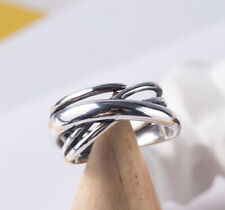 H04 Ring Sterling Silver 925 Located Cruising Bands Adjustable Size