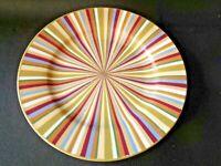 LAURA ASHLEY Lifestyles Set Of 5 Luncheon/Salad Plates Multicolor Stripes