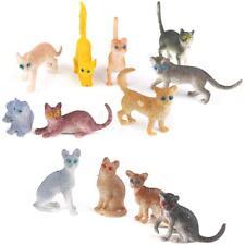 12pcs Mixed-color Plastic Kitten Cat Animal Models Figurine Kids Favor Toys
