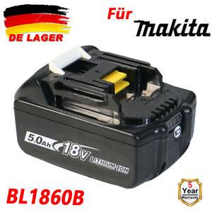 18V 5,0AH BL1860B Für Makita Original Akku BL1850B BL1840B BL1830B LED-Anzeige